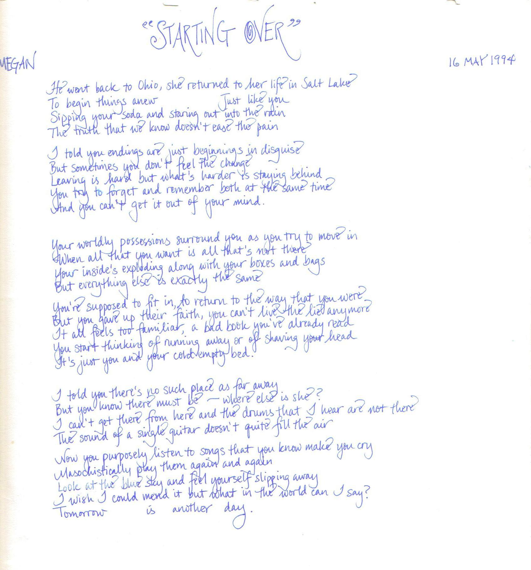 Friend forever song lyrics